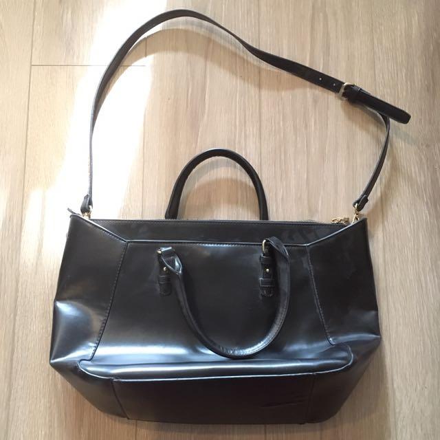 Black Zara Shoulder and Sling Bag