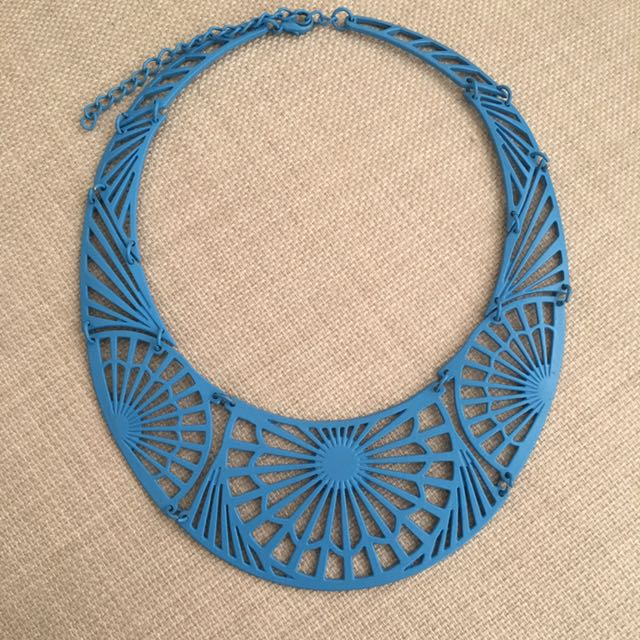 Blue Metal Necklace