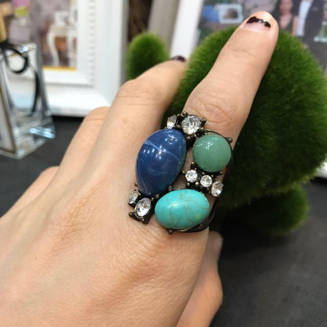 Blue/green Ethnic Ring