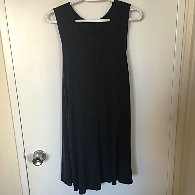 Brandy Melville Black Jersey Shift Dress