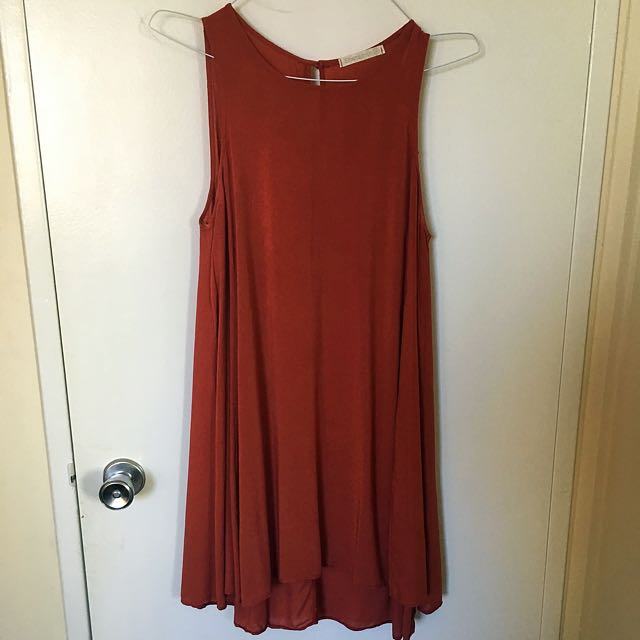 Burnt Orange Shift Dress (M)