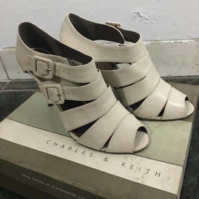 CHARLES & KEITH Cream High Heels