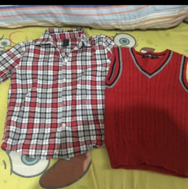 Checkered Polo Red For Boys