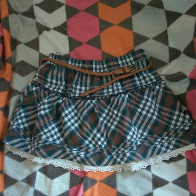 Checkered Tartan Blue skirt