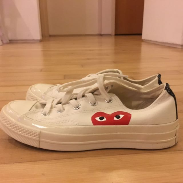 fcdc23c7559d73 Comme des Garcons Play Converse All Star 70 Low (White) Womens ...