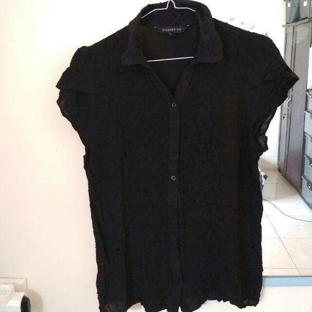 Connexion Simple Black Shirt