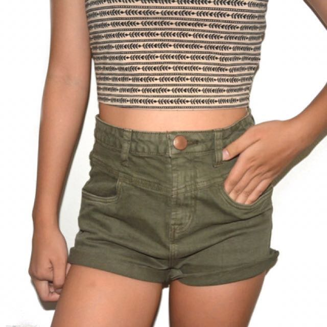 Cotton On Olive Green Shorts