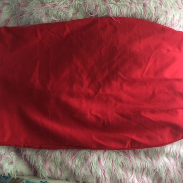 Dolly Fashion Red Midi Skirt