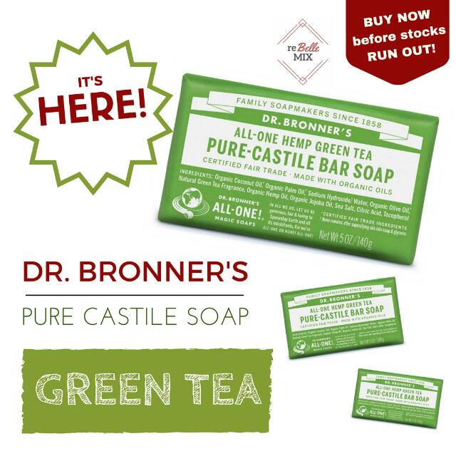 Dr. Bronners Bar Soap - Green Tea