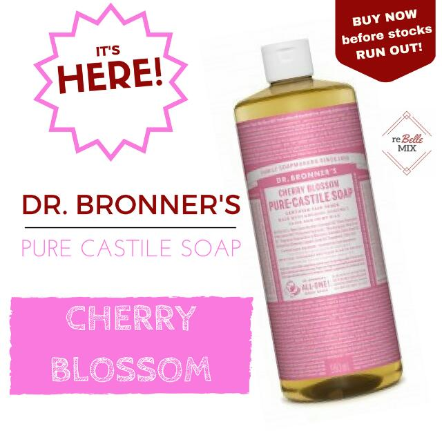 Dr. Bronners Liquid Soap - Cherry Blossom