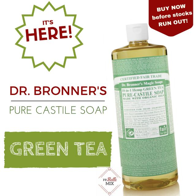 Dr. Bronners Liquid Soap - Green Tea