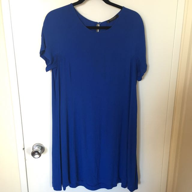 Electric Blue Mango Dress (Size: L)