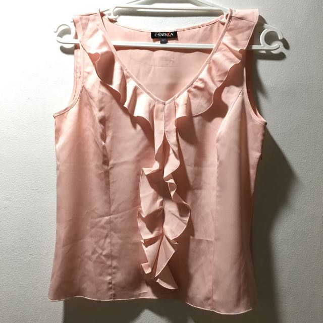 Essenxa Pink Ruffled Top