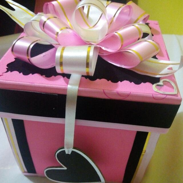 explosion surprise box design craft handmade goods accessories