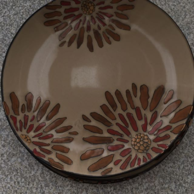 Flower Plates From Bombay Store