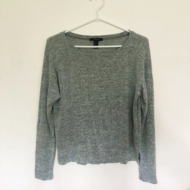 Forever 21 Grey Sweater (small)