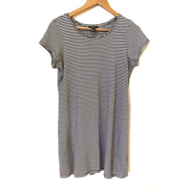 Forever 21 Stripes Shirt Dress