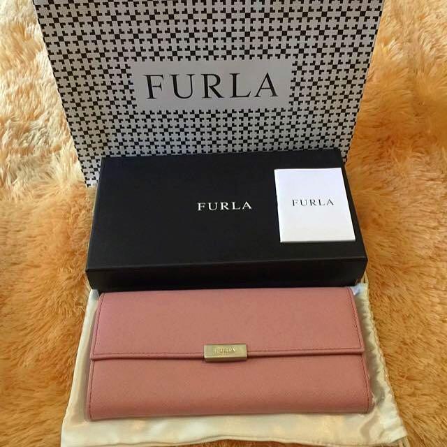 FURLA Dusty Pink Classic Wallet (Dompet)