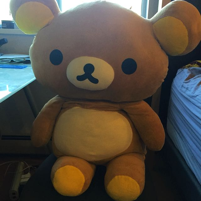 GIANT RILAKKUMA PLUSHIE 80CM VERY CUTE LIKE NEW