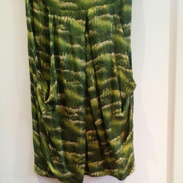 Green Silk Veronika Maine Dress
