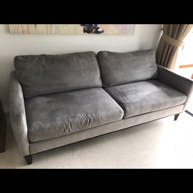 Grey 4 5 Seater Sofa Price Reduced Furniture Sofas On Carousell