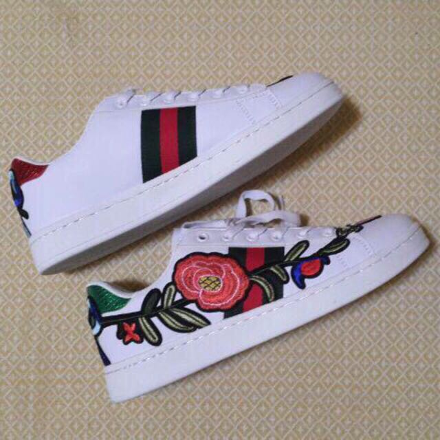 Gucci Ace Embroidered Low-Top Sneakers