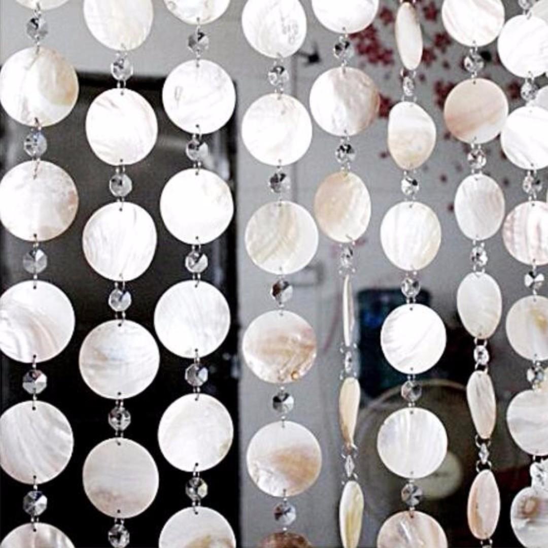 Hari Raya Special Natural Shell Curtain Beads Crystal