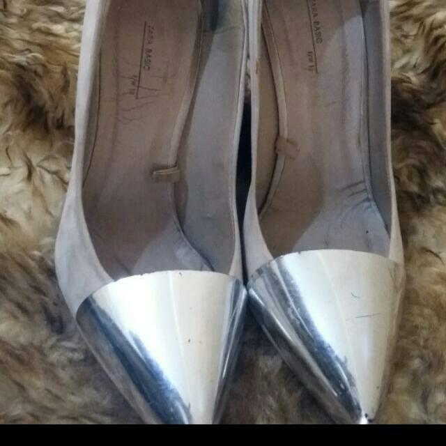 Heels Zara Silver Original