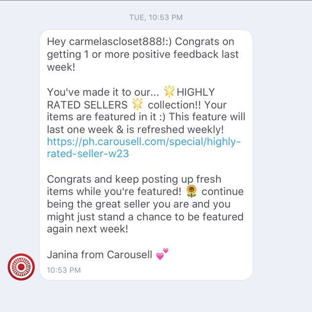 Highly Rated Seller for the 4th time! ❤️😍❤️