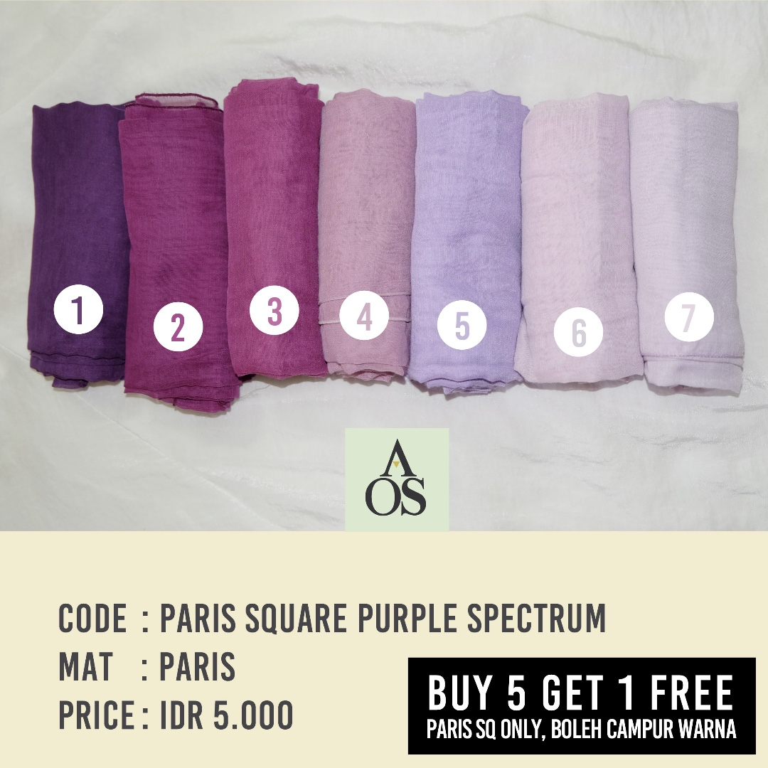 Hijab Segiempat / Square Paris Purple