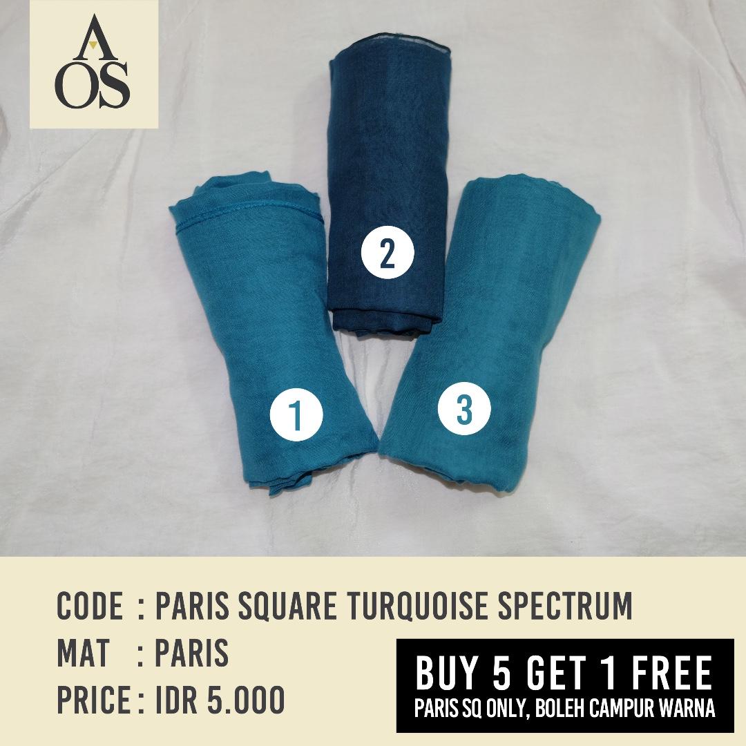 Hijab Segiempat / Square Paris Turquoise