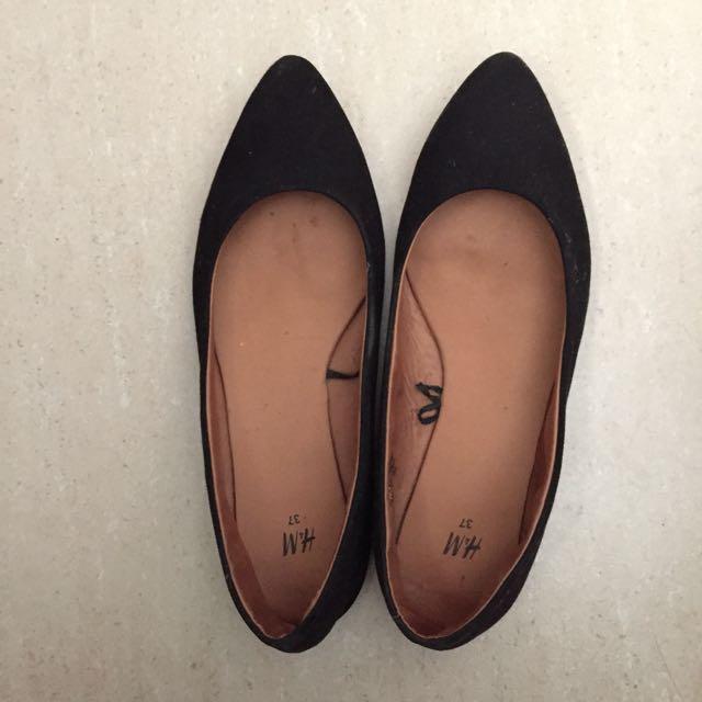 H&M Suede Black Shoes