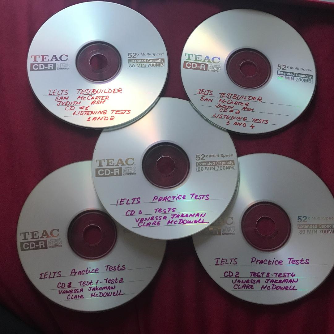 IELTS test prep 5 x CDs, 9 x Tests including postage