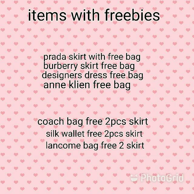Items With Freebies 😍