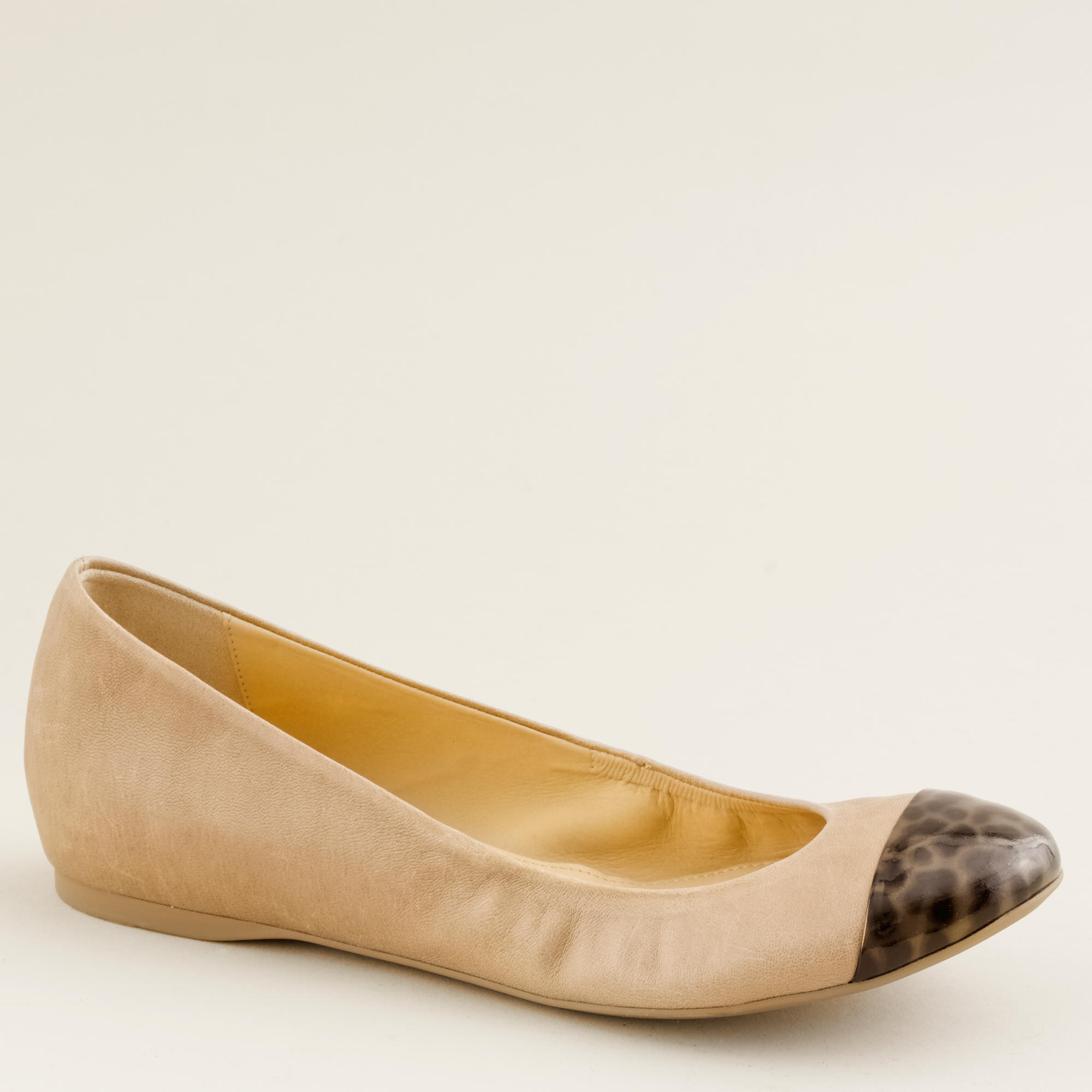 New J Crew leather and tortoise ballet flats