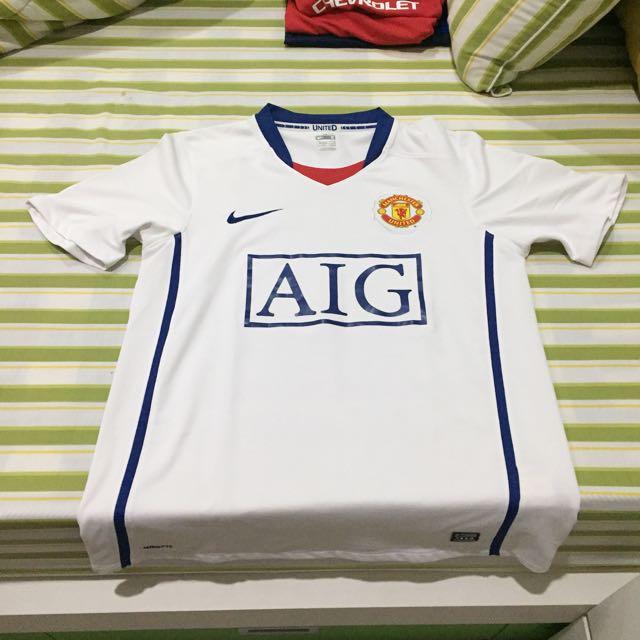 Jersey Manchester United Tevez Original Away Season 08/09