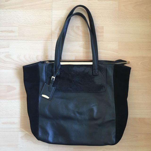 JIGSAW Leather Tote Bag