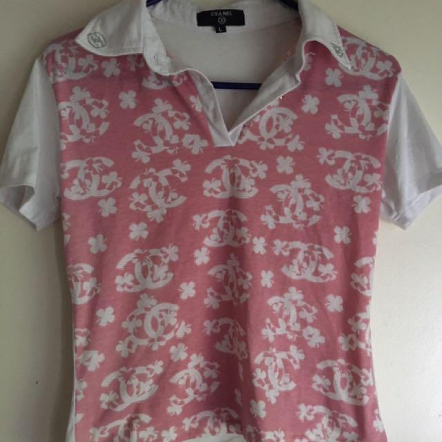 Kids Vintage Chanel Pink Shirt