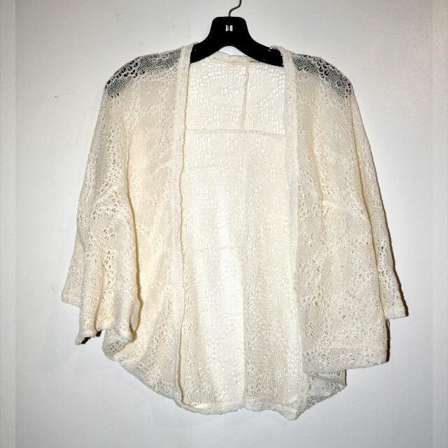 Knitted Kimono Off White
