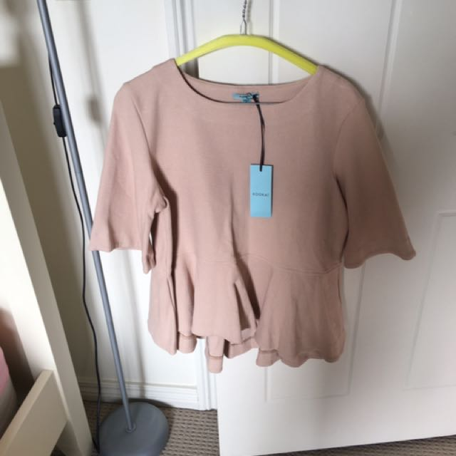 Kookai Peplum Top