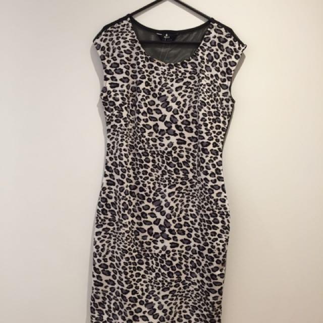 Leopard Print Silicon Dress