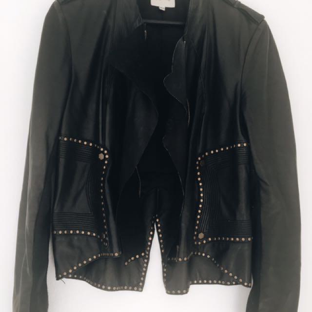 Lisa Ho Leather Jacket Women's 12