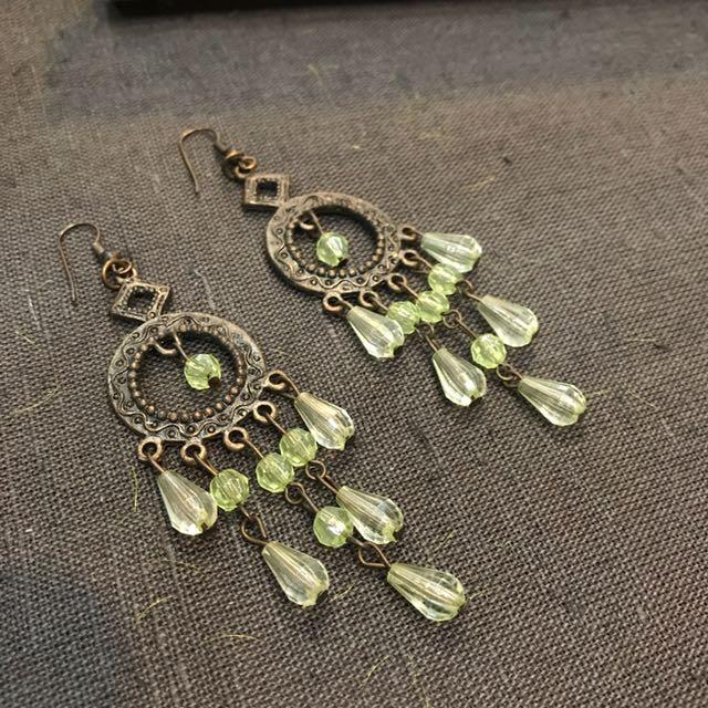Lisgh Green Ethnic Earrings