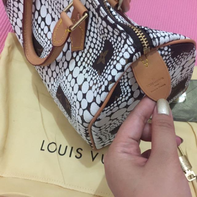 Louis Vuitton Kusama Speedy White