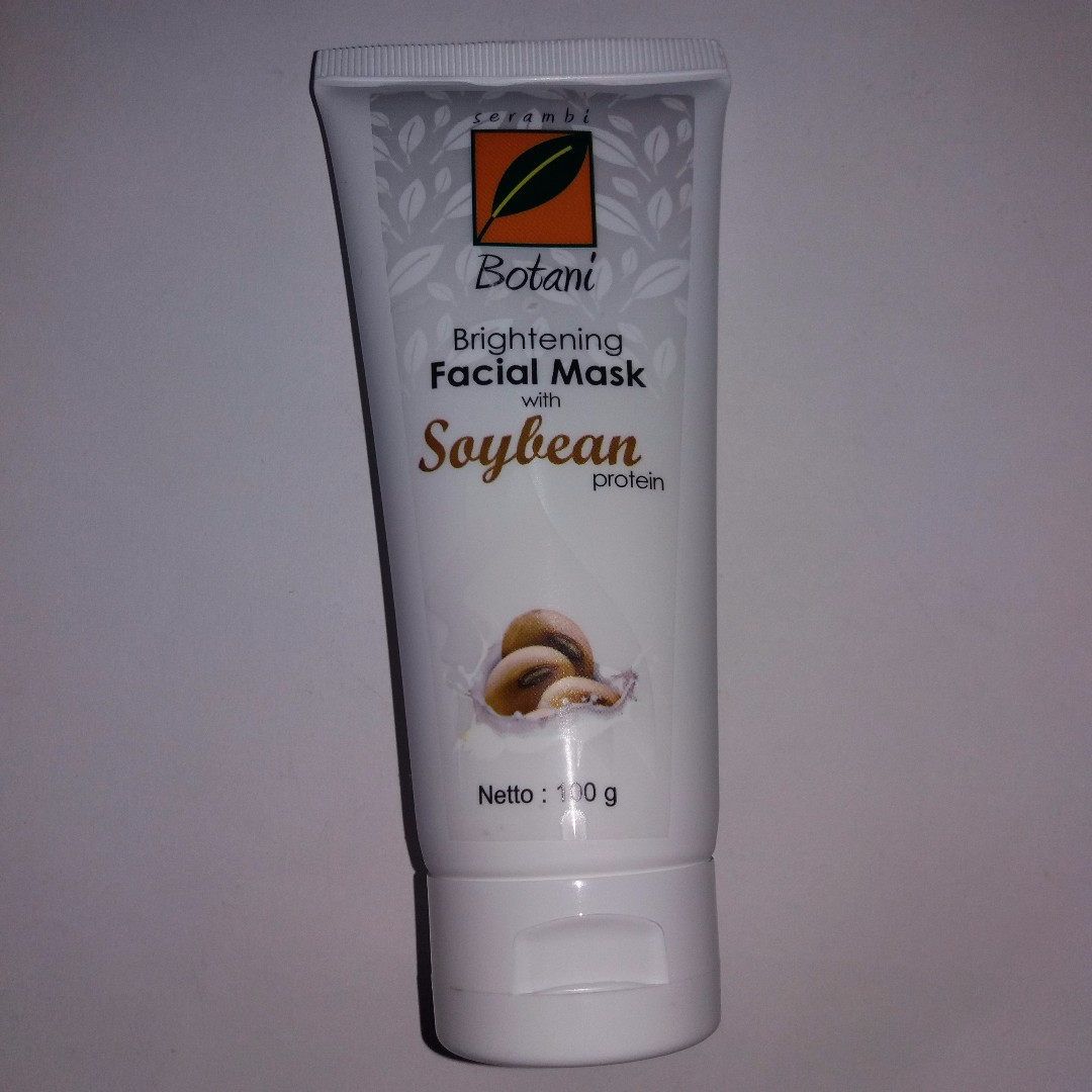 Masker Wajah Facial Mask Soybean Serambi Botani Whitening