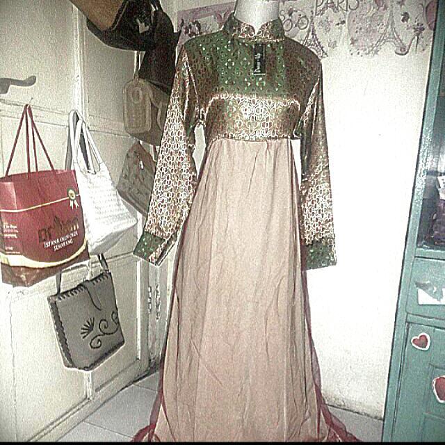 maxi dress songket