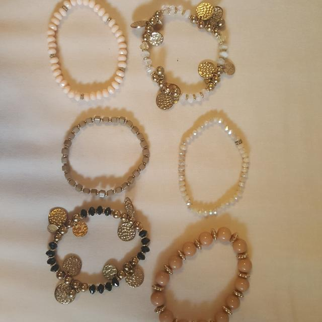 Multiple Stretchy Beaded Bracelets