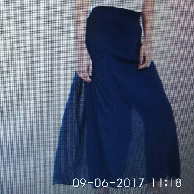 Nashiwa Pants Skirt Navy/ Rok Celana Navy