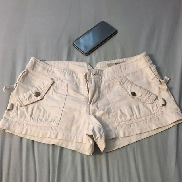 Only Jeans White Maong Short