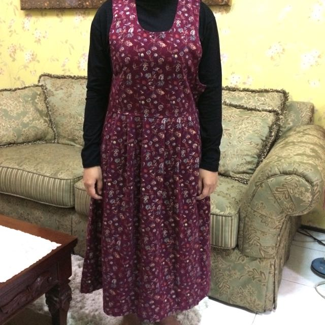 Outer Long Dress Maroon